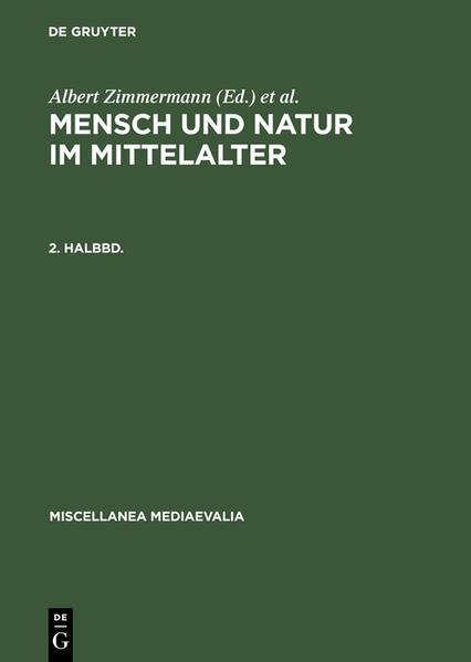 Mensch und Natur im Mittelalter / Mensch und Natur im Mittelalter. 2. Halbbd - Coverbild
