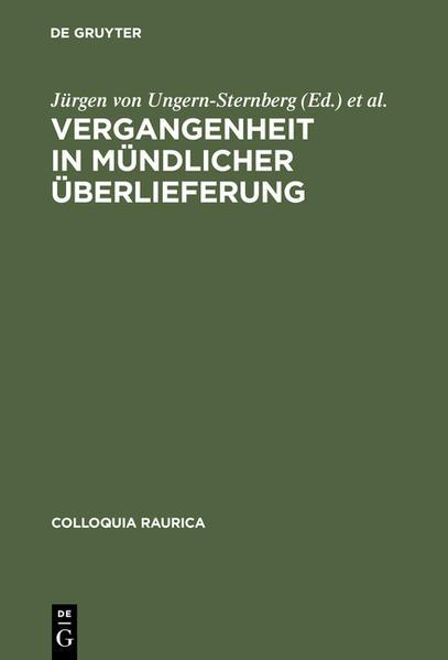 Vergangenheit in mündlicher Überlieferung - Coverbild
