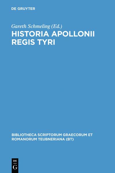 Historia Apollonii Regis Tyri - Coverbild