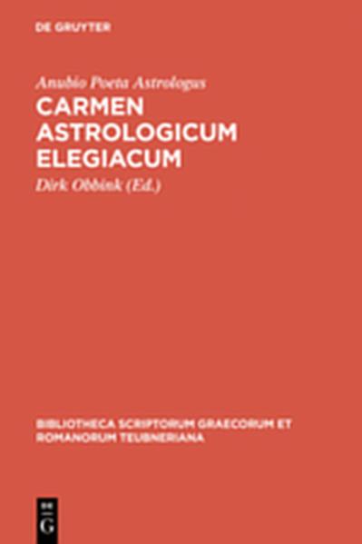 Carmen astrologicum elegiacum - Coverbild