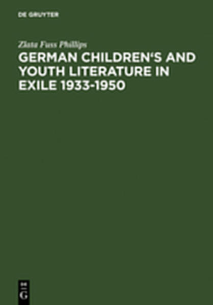 German Children's and Youth Literature in Exile 1933-1950 - Coverbild