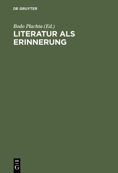 Literatur als Erinnerung - Coverbild