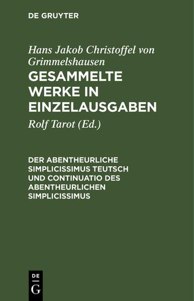 Gesammelte Werke in Einzelausgaben / Der Abentheurliche Simplicissimus Teutsch und Continuatio des abentheurlichen Simplicissimus - Coverbild