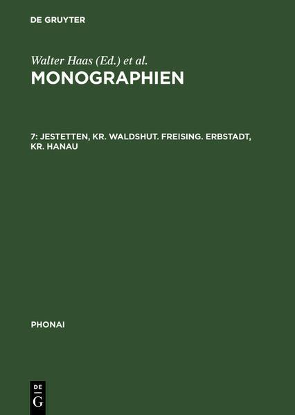 Monographien / Jestetten, Kr. Waldshut; Freising; Erbstadt, Kr. Hanau - Coverbild