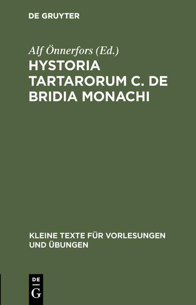 Hystoria Tartarorum C. de Bridia Monachi - Coverbild