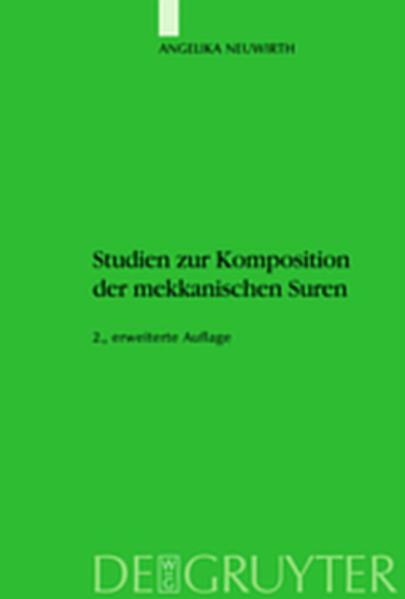 Studien zur Komposition der mekkanischen Suren - Coverbild