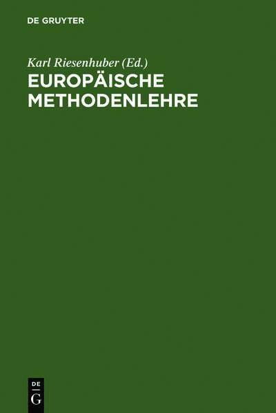 Europäische Methodenlehre - Coverbild