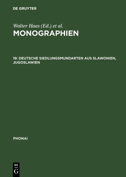 Phonai: Monographien 10 - Coverbild