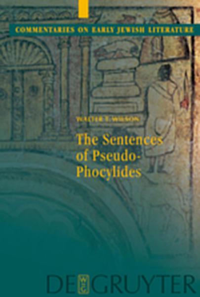 The Sentences of Pseudo-Phocylides - Coverbild