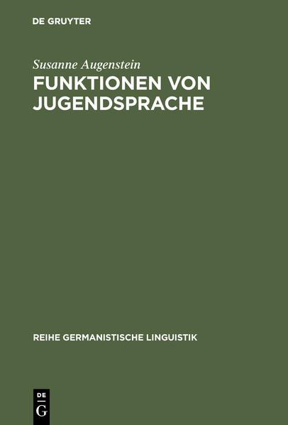 Funktionen von Jugendsprache - Coverbild