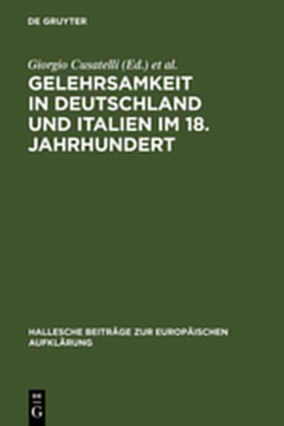 Gelehrsamkeit in Deutschland und Italien im 18. Jahrhundert - Coverbild