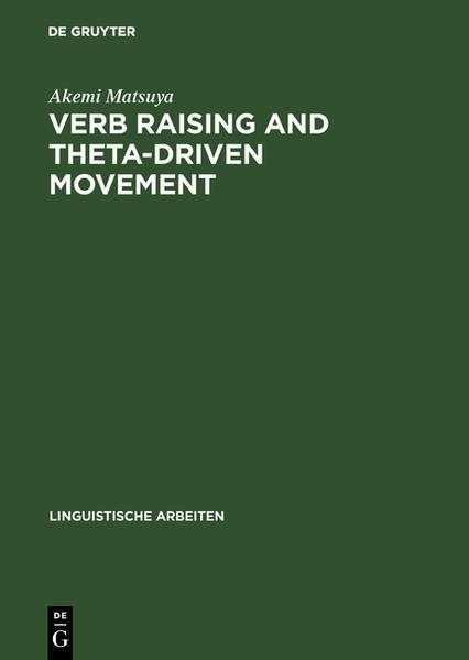 Verb Raising and Theta-Driven Movement - Coverbild