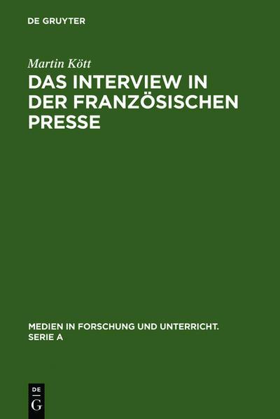 Das Interview in der französischen Presse - Coverbild