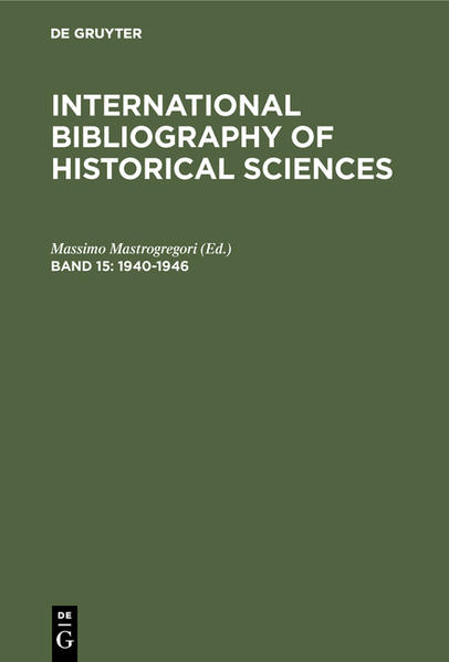 International Bibliography of Historical Sciences / 1940-1946 - Coverbild
