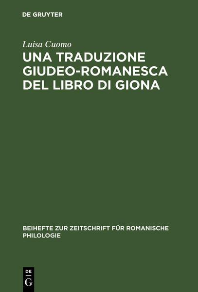 Una traduzione giudeo-romanesca del libro di Giona - Coverbild