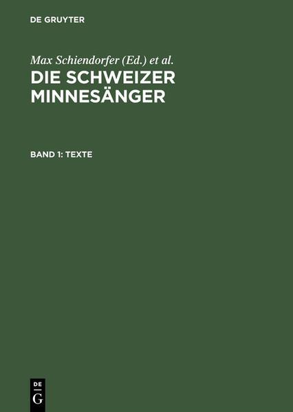 Die Schweizer Minnesänger / Texte - Coverbild