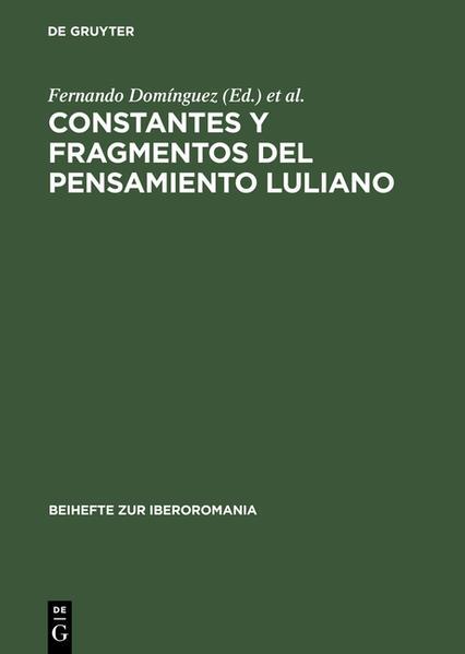 Constantes y fragmentos del pensamiento luliano - Coverbild