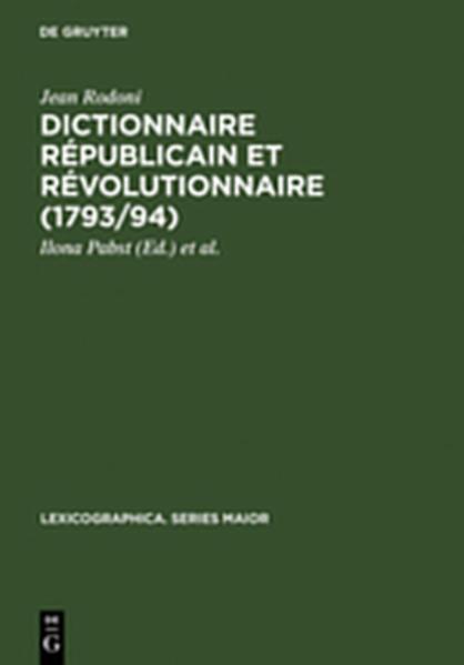 Dictionnaire Républicain et Révolutionnaire (1793/94) - Coverbild