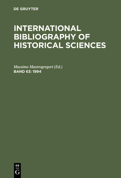 International Bibliography of Historical Sciences / 1994 - Coverbild