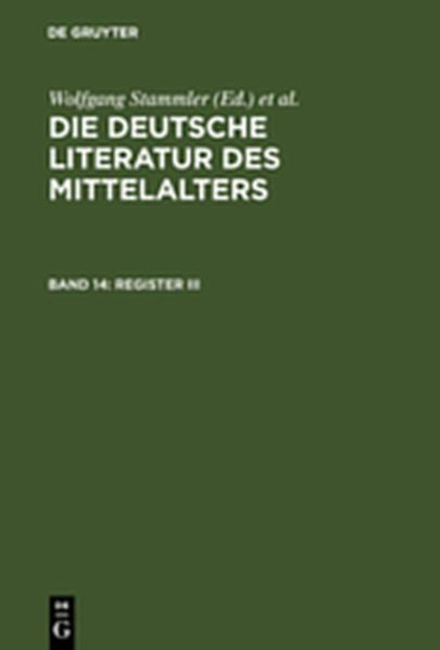 Die deutsche Literatur des Mittelalters / Register III - Coverbild
