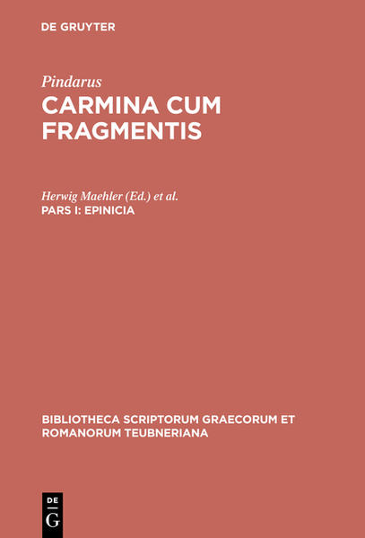 Pindarus: Carmina cum fragmentis / Epinicia - Coverbild