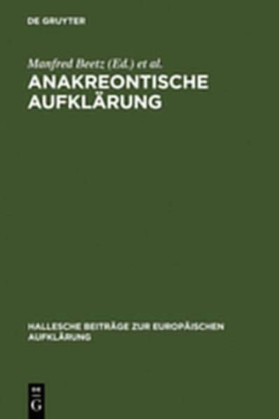 Anakreontische Aufklärung - Coverbild