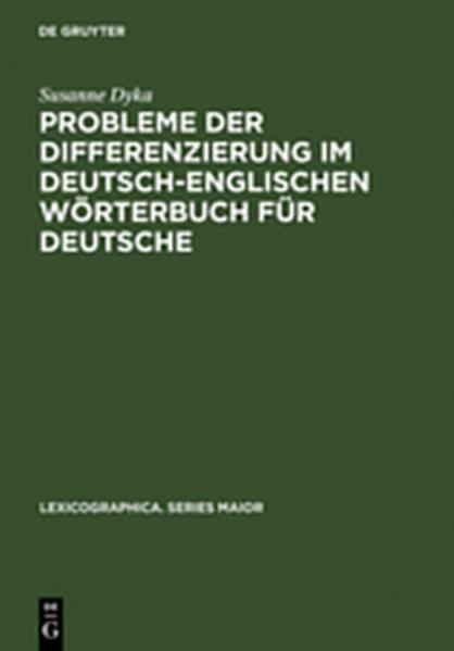 Probleme der Differenzierung im deutsch-englischen Wörterbuch für Deutsche - Coverbild