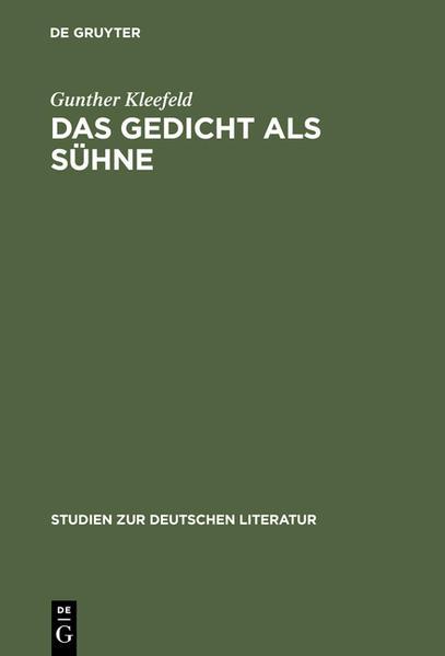 Das Gedicht als Sühne - Coverbild