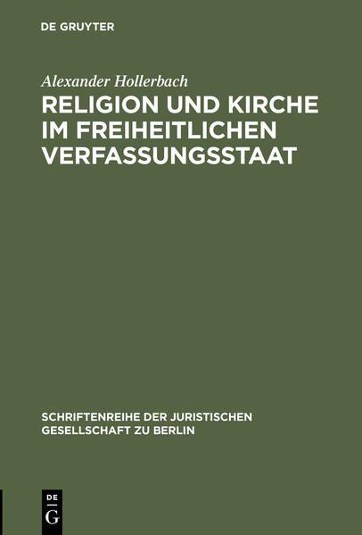 Religion und Kirche im freiheitlichen Verfassungsstaat - Coverbild