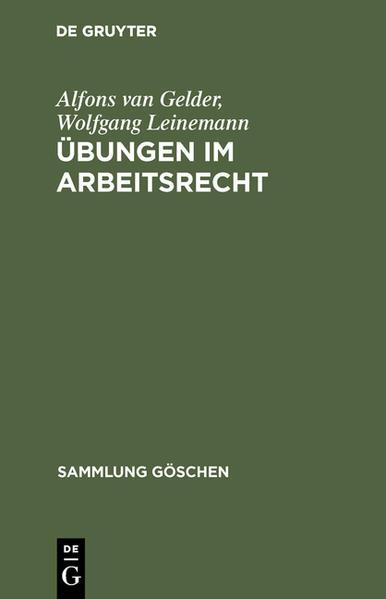 SG5006 GELDER/LEINEMANN:    UEBUNGEN I ARBEITSR - Coverbild