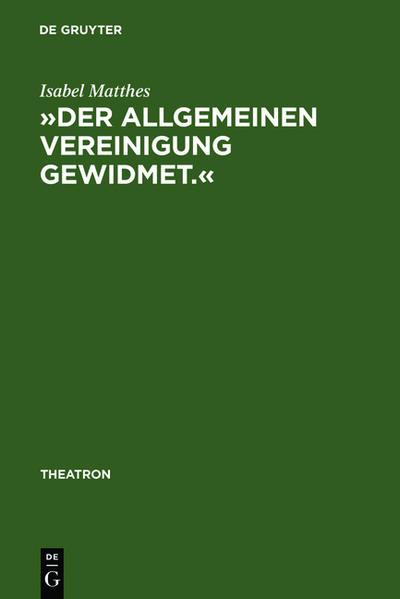 »Der allgemeinen Vereinigung gewidmet.« - Coverbild