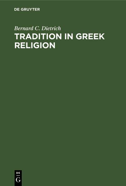 Tradition in Greek Religion - Coverbild