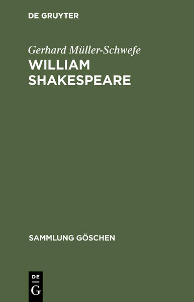 SG2208 MUELLER-SCHWEFE:     WILLIAM SHAKESPEARE - Coverbild