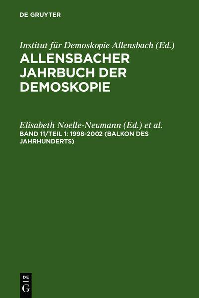Allensbacher Jahrbuch der Demoskopie / 1998–2002 (Balkon des Jahrhunderts) - Coverbild