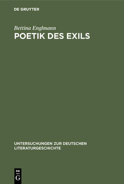 Poetik des Exils - Coverbild