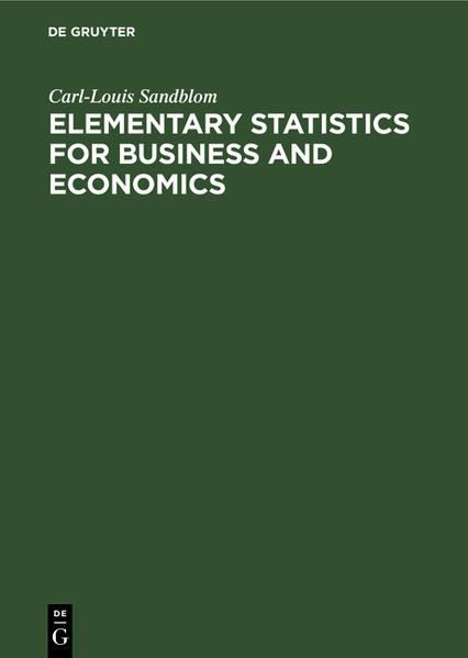 Elementary Statistics for Business and Economics - Coverbild
