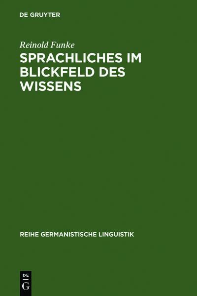 Sprachliches im Blickfeld des Wissens - Coverbild