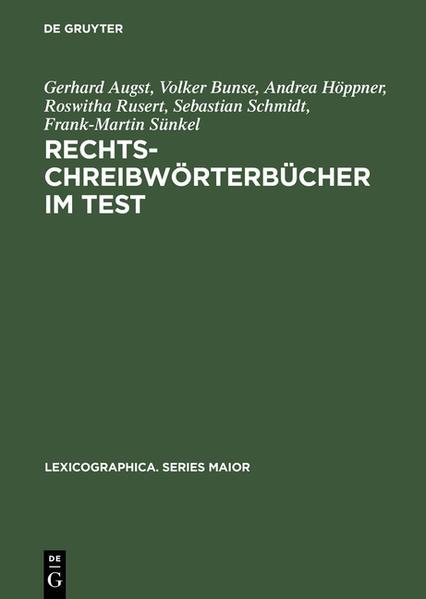 Rechtschreibwörterbücher im Test - Coverbild