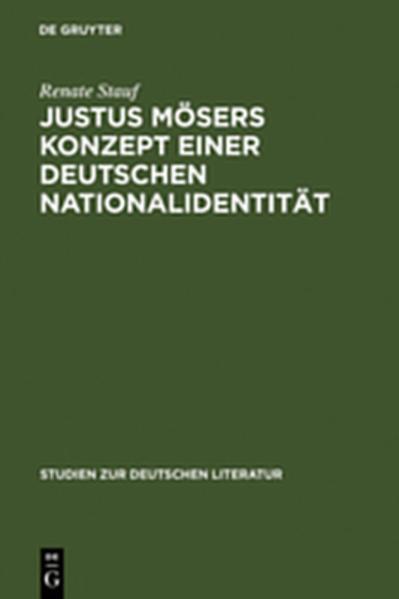 Justus Mösers Konzept einer deutschen Nationalidentität - Coverbild