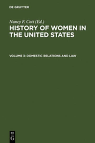 History of Women in the United States / Domestic Relations and Law - Coverbild