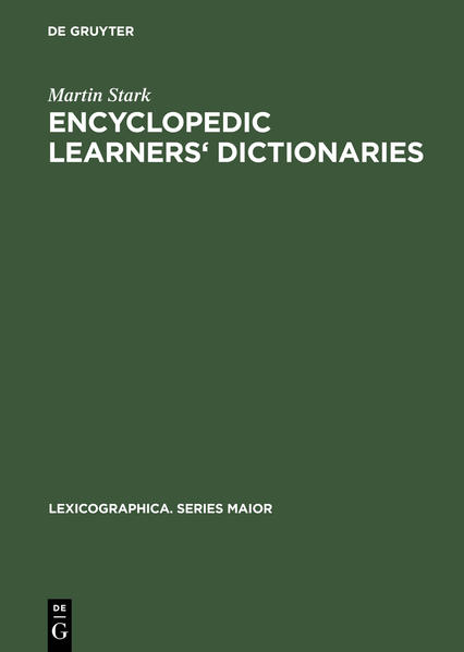 Encyclopedic Learners' Dictionaries - Coverbild