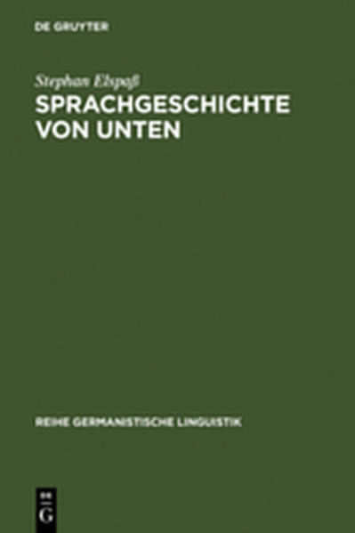 Sprachgeschichte von unten - Coverbild