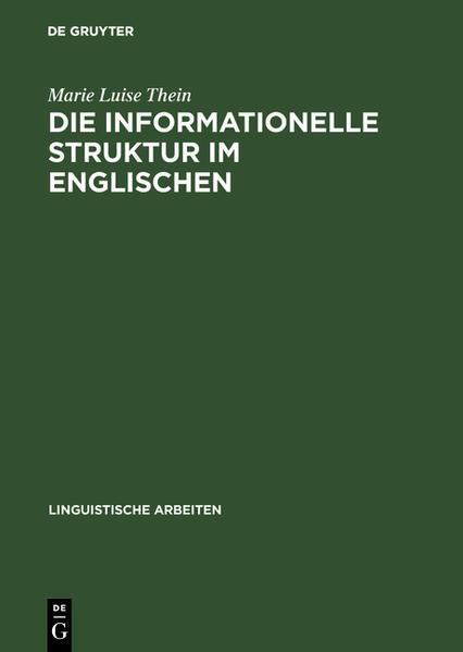 Die informationelle Struktur im Englischen - Coverbild
