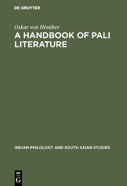 A Handbook of Pali Literature - Coverbild