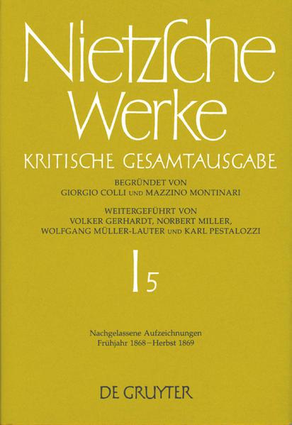 Werke. Abteilung 1 / Nachgelassene Aufzeichnungen. Frühjahr 1868 - Herbst 1869  - Coverbild
