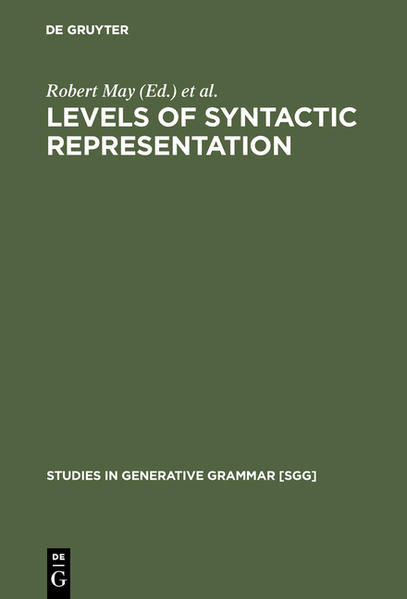 Levels of Syntactic Representation - Coverbild