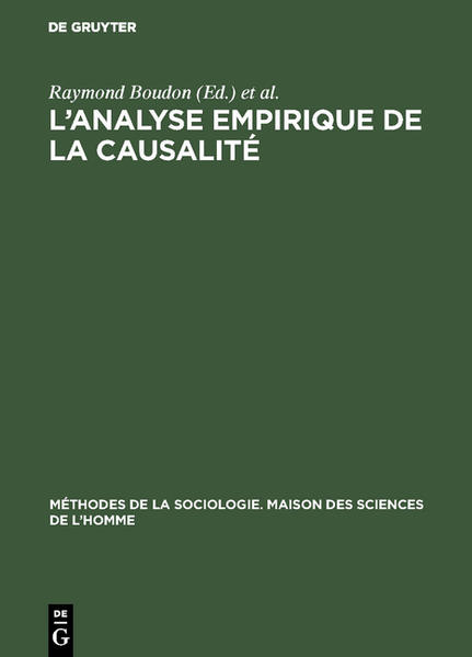 L'analyse empirique de la causalité - Coverbild