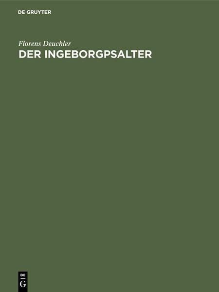 Der Ingeborgpsalter - Coverbild