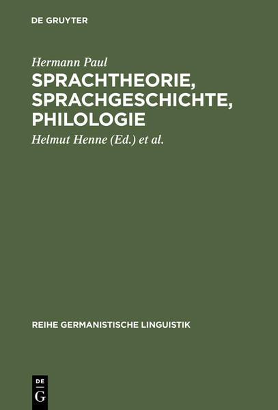 Sprachtheorie, Sprachgeschichte, Philologie - Coverbild