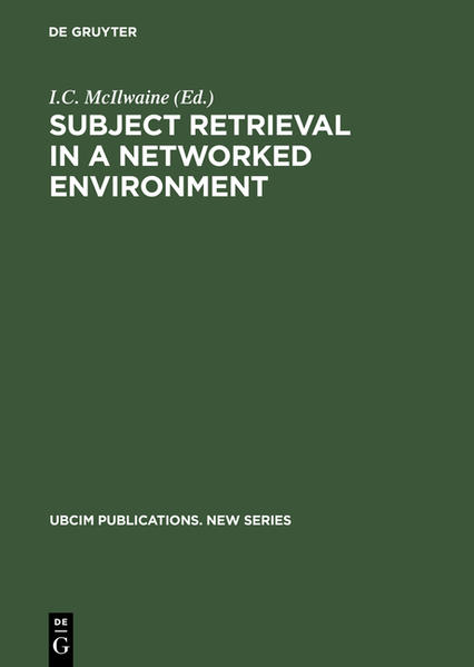 Subject Retrieval in a Networked Environment - Coverbild